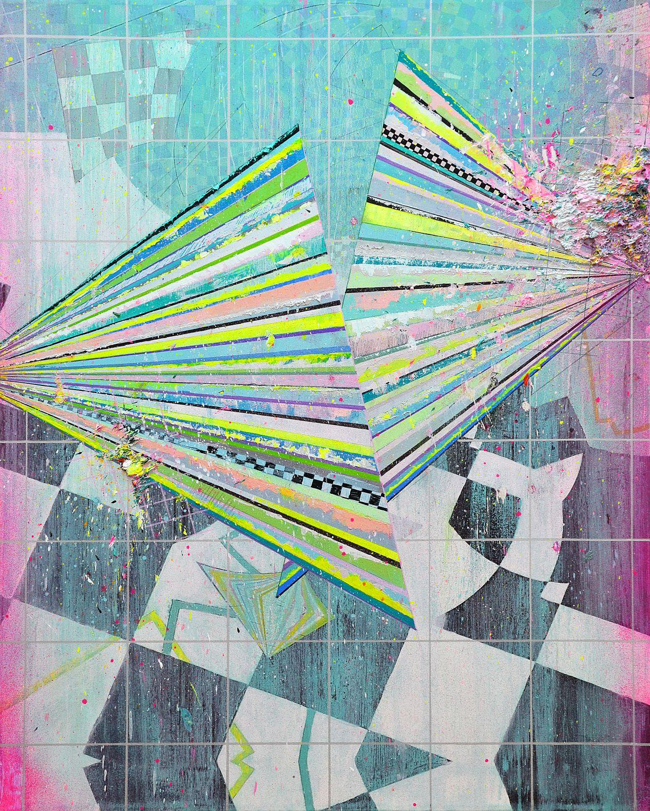 Pantone 1905, Disco - Contemporary Abstract Painting