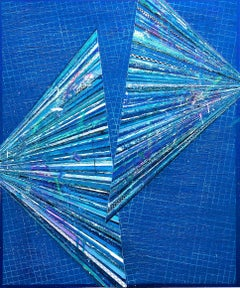 Pantone 1919, Santorini - Contemporary Abstract Painting