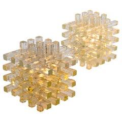 Albano Poli Italian Modern Polyedre Murano Glass Lembo Table Lamps for Poliarte
