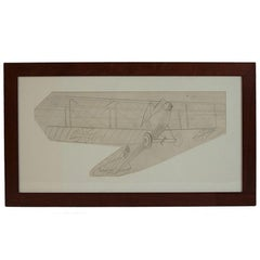 Pencil drawing depicting an Albatros C III WWI Aircraft