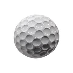Albatros, Ceramic Golf Ball Handcrafted in White by Gabriella B. Made in Italy