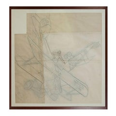 Pencil drawing depicting an Albatros DV WWI Aircraft