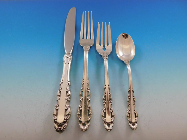 Albemarle by Alvin sterling silver flatware set of 30 pieces. Great starter set! This set includes  Six knives, 9 1/8