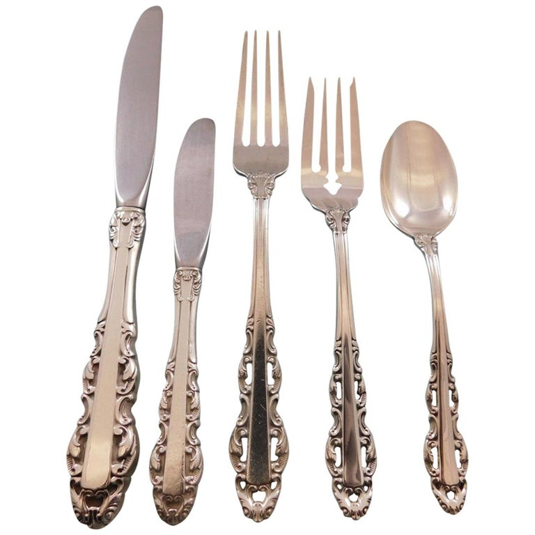 Albemarle by Alvin Sterling Silver Flatware Set for Six Service 30 Pieces For Sale
