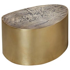 albeo II, Polished, European, Modern, 21st Century, Brass, Coffee Table