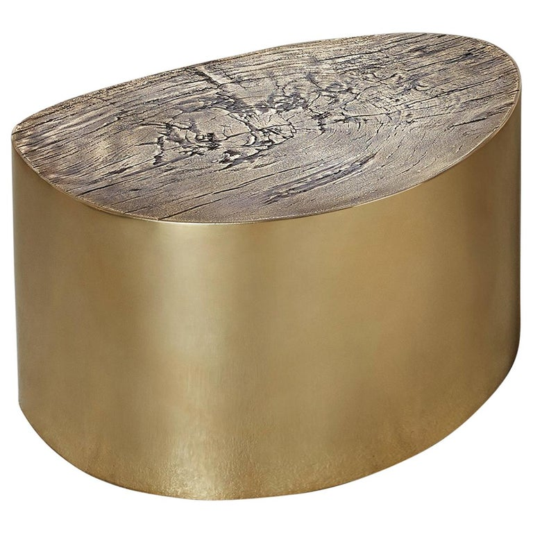 albeo II, Polished, European, Modern, 21st Century, Brass, Coffee Table For Sale