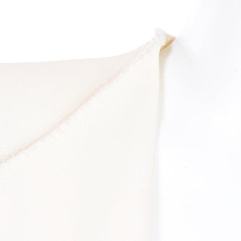 Alber Elbaz Lanvin Spring 2015 Cream Cutaway Tuxedo Style Jacket For Sale 4