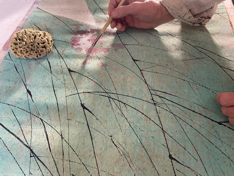 Italian Albero, Handmade Wallpaper For Sale