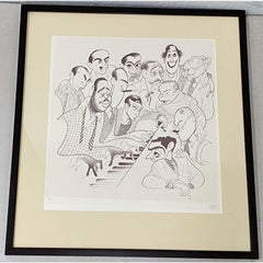 "Al Hirschfeld ""American Popular Song: Great Songwriters"" Etching C.1983"