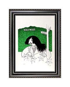 AL HIRSCHFELD Color Lithograph Original Caricature Beatles Ringo Starr Signe