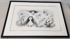 "Al Hirschfeld ""Phantom of the Opera"" Signed Lithograph Printers Proof, circa 988"