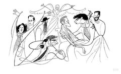 """Angels in America"" by Al Hirschfeld"