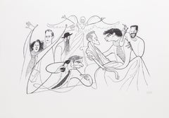 """Angels in America"" by Al Hirschfeld"