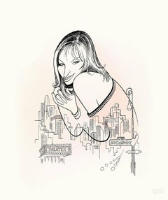 """Barbra Streisand - Back to Broadway"" by Al Hirschfeld"