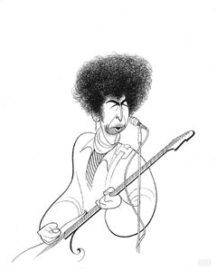 """Bob Dylan"", Lithograph by Al Hirschfeld"