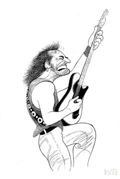 """Bruce Springsteen"", Lithograph by Al Hirschfeld"