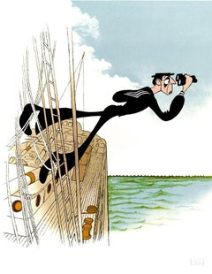 """Buster Keaton: The Navigator"", Lithograph by Al Hirschfeld"