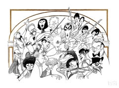 """Carnegie Hall - The 100th Anniversary"" by Al Hirschfeld"
