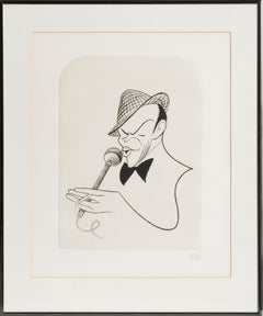 Frank Sinatra, Caricature by Al Hirschfeld