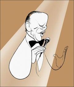 """""""Frank Sinatra - Chairman of the Board"""" by Al Hirschfeld"""