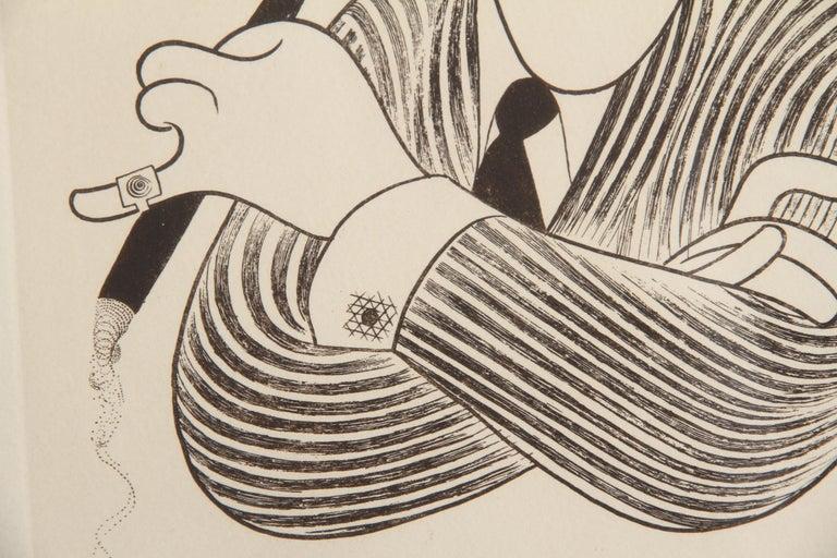 George Burns, Caricature by Al Hirschfeld - Contemporary Print by Albert Al Hirschfeld