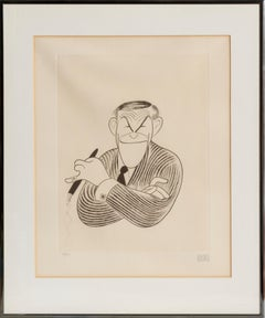 George Burns, Caricature by Al Hirschfeld