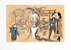 Guys and Dolls, Caricature Lithograph by Al Hirschfeld