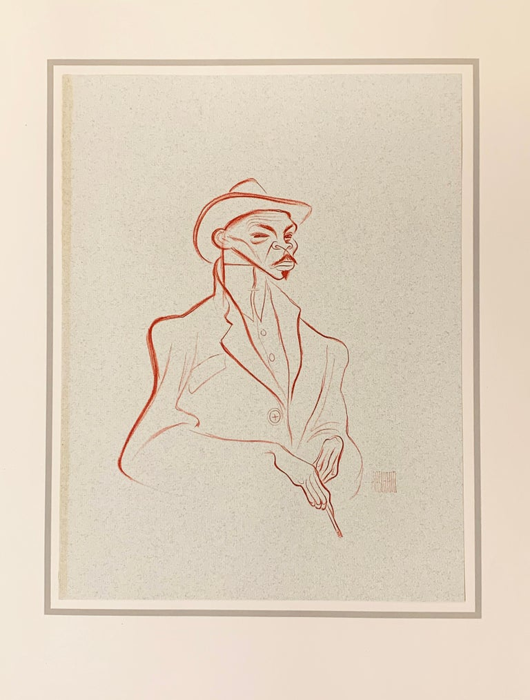(Hirschfeld, Al)illus.  HARLEM AS SEEN BY HIRSCHFELD. Introduction by William Saroyan. Hyperion, NY, 1941. Edition of 1000 (this copy numbered 394). Folio, pictorial cloth, publishers box, text plus 24 original lithographs. A light bump to the upper