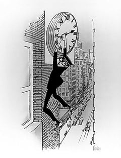"""Harold Lloyd: Safety Last"", Lithograph by Al Hirschfeld"
