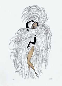 Josephine Baker in Paris - Chez Josephine, Limited Ed Lithograph, Al Hirschfeld