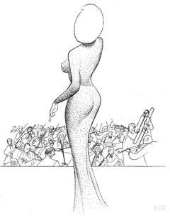 """""""Marilyn Monroe - Happy Birthday, Mr. President"""", Lithograph by Al Hirschfeld"""