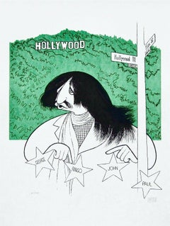 Ringo Star Goes to Hollywood, Limited Edition Lithograph, Al Hirschfeld
