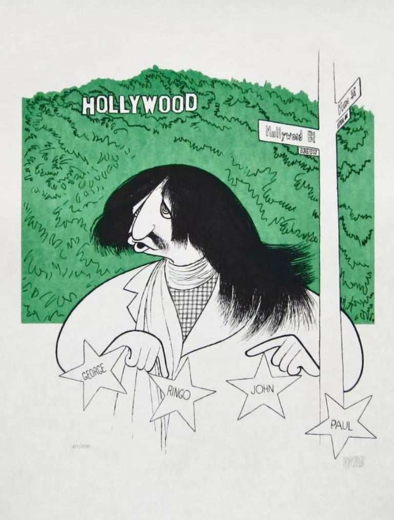 Albert Al Hirschfeld Figurative Print - Ringo Starr goes to Hollywood