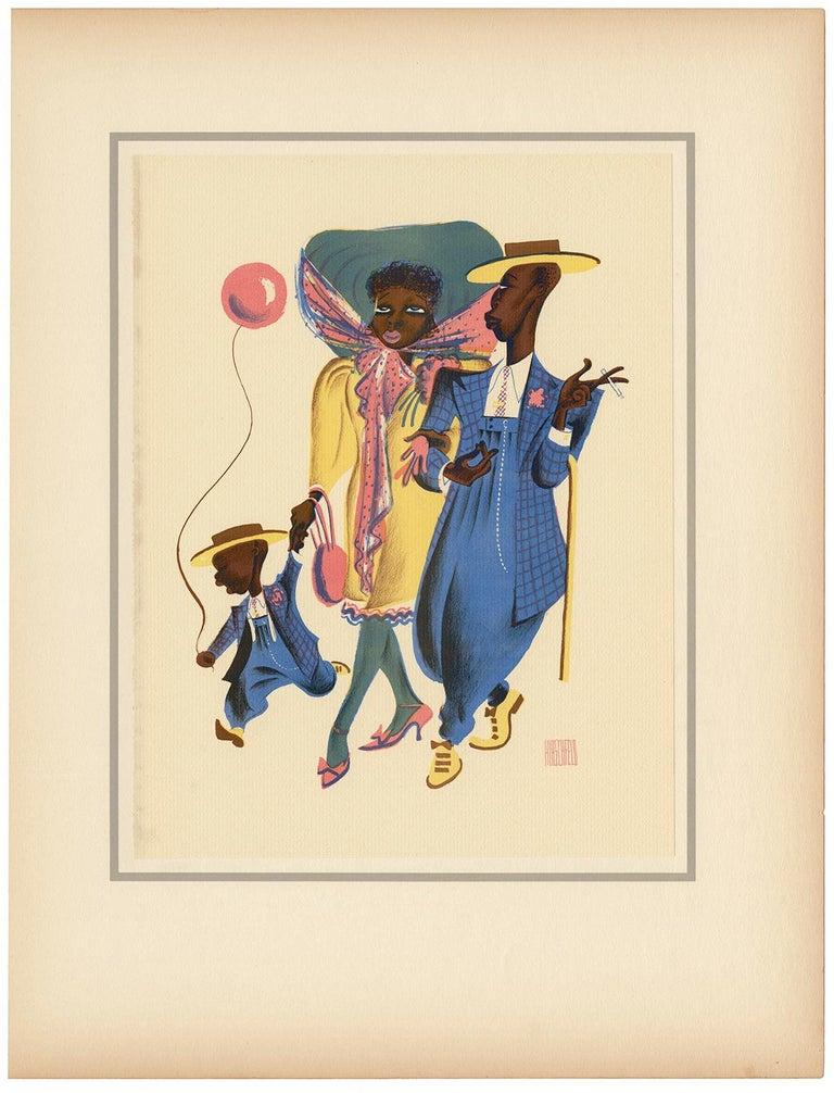 Sharpy Family - Print by Albert Al Hirschfeld