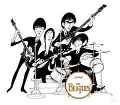 """The Beatles - Ed Sullivan Show"", Lithograph by Al Hirschfeld"