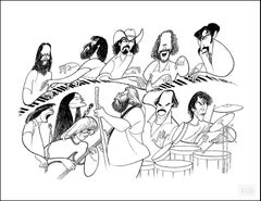 """The Grateful Dead"", 1995, Lithograph by Al Hirschfeld"