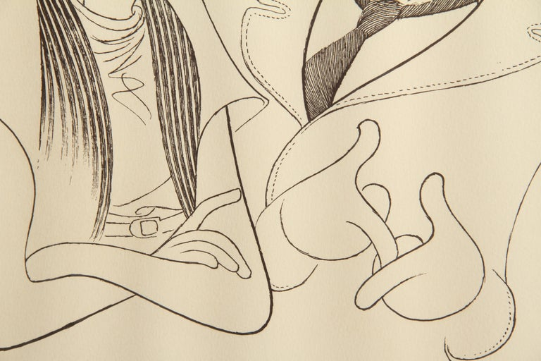 The Honeymooners, Caricature by Al Hirschfeld - Print by Albert Al Hirschfeld
