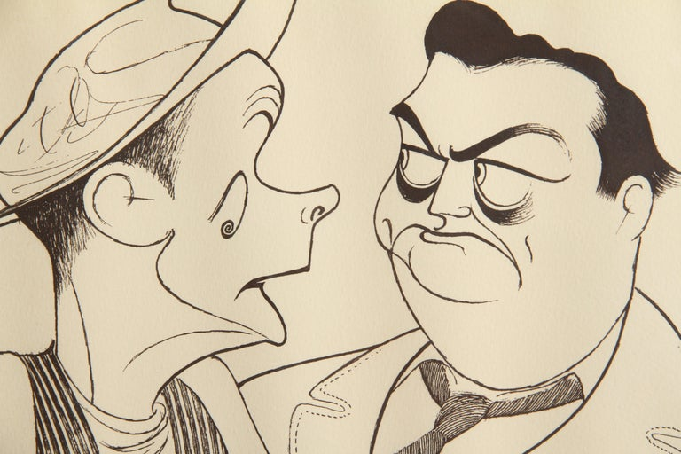 The Honeymooners, Caricature by Al Hirschfeld - Contemporary Print by Albert Al Hirschfeld