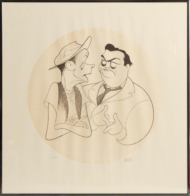 Albert Al Hirschfeld Figurative Print - The Honeymooners, Caricature by Al Hirschfeld