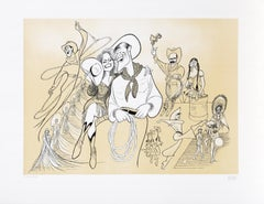 Will Rogers, Caricature Lithograph by Al Hirschfeld