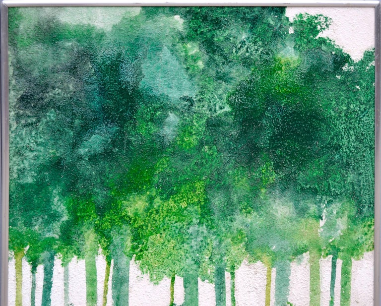 Mid-Century Modern Forest by Albert Clymer - Painting by Albert Anderson Clymer
