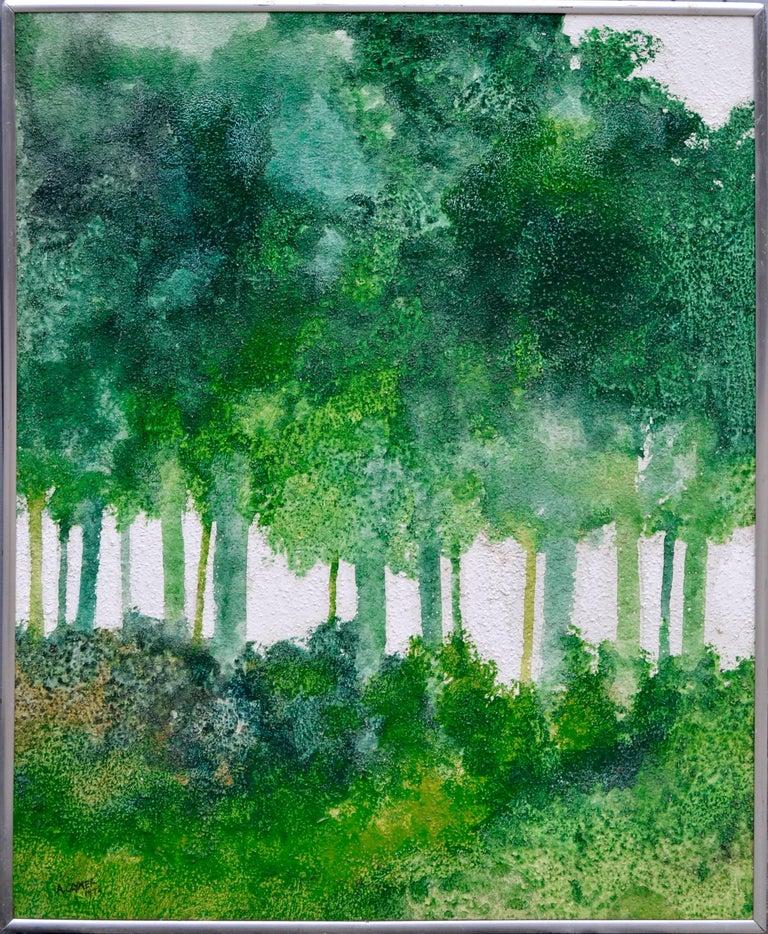 Albert Anderson Clymer Landscape Painting - Mid-Century Modern Forest by Albert Clymer