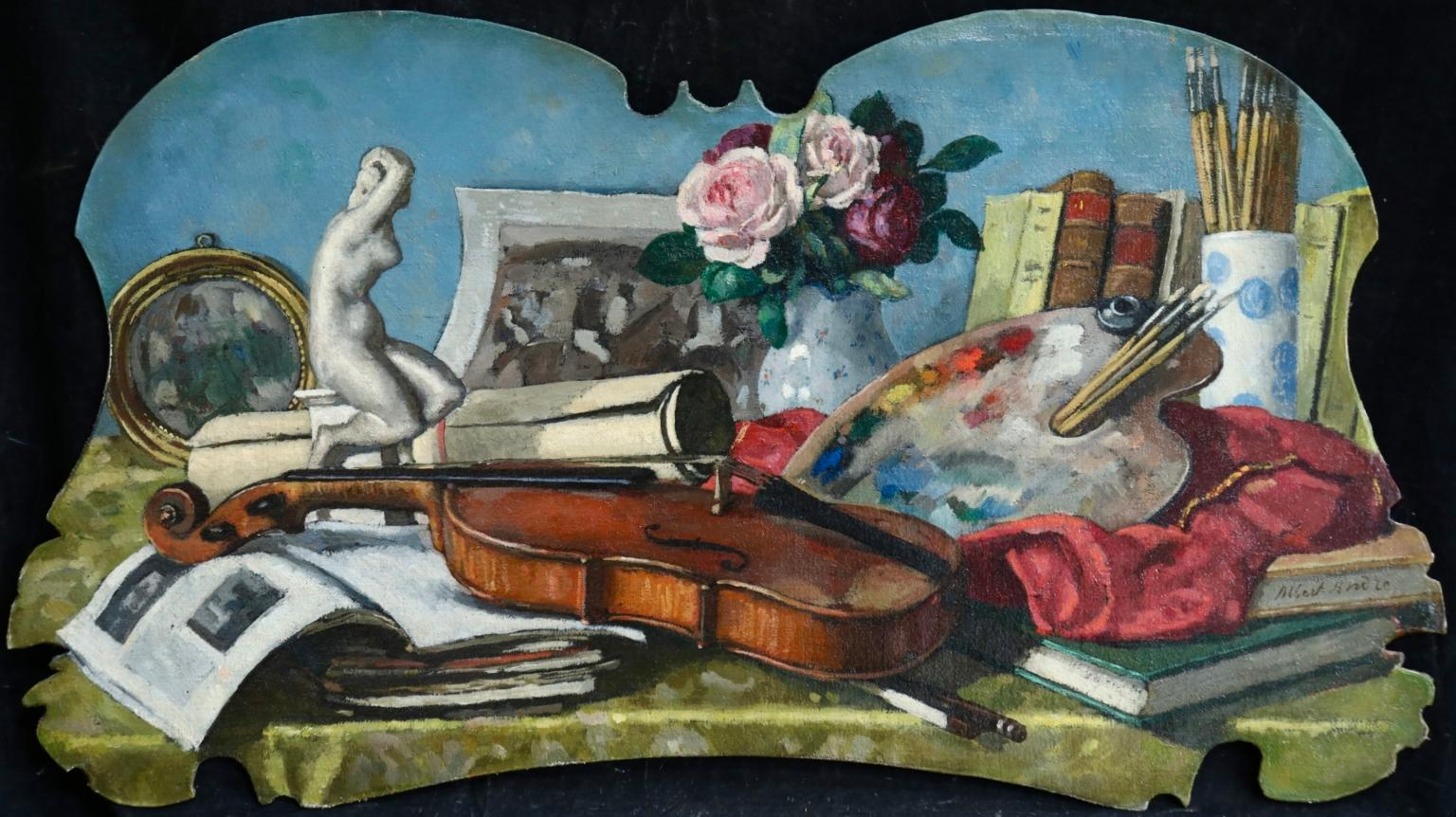 Nature Morte - L'Atelier Albert Andre - Post Impressionist Still Life by A Andre