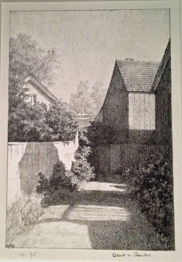 Albert Winslow Barker Landscape Print - ANNISQUAM LANE