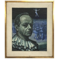 """Albert Beausaert """"Self portret"""", Signed and Dated 1965"""
