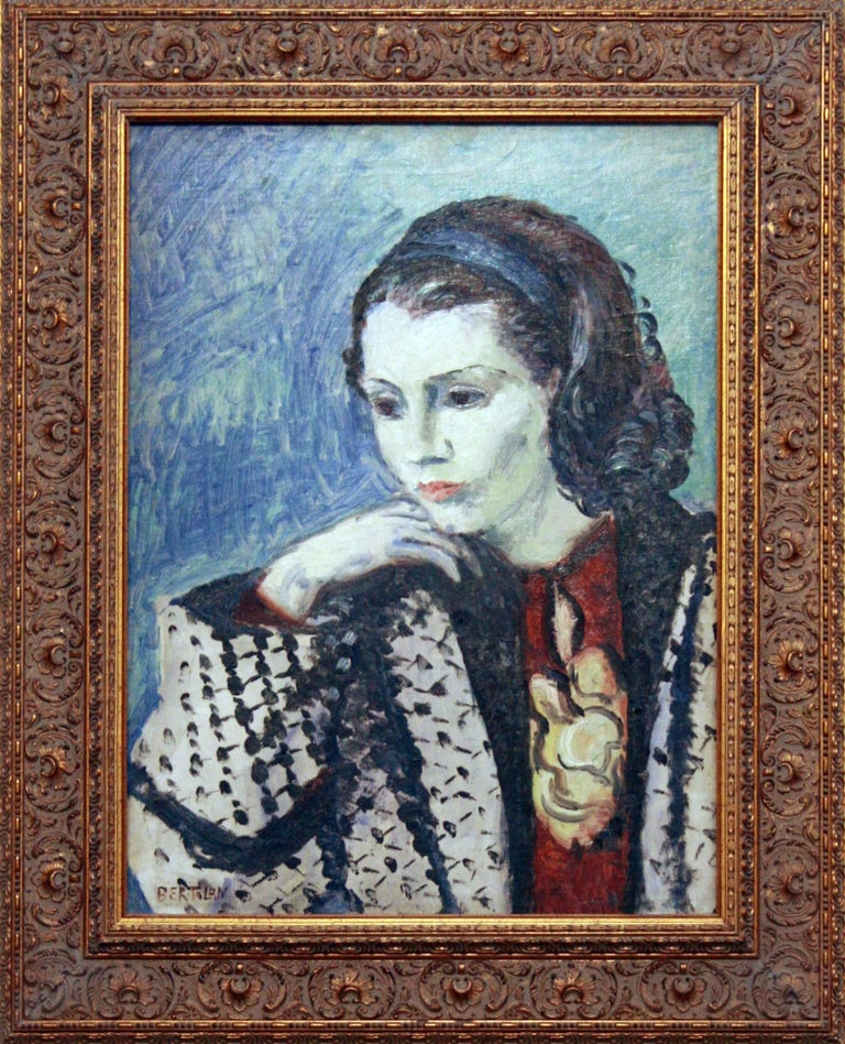 Albert Bertalan Figurative Painting - Femme Pensive
