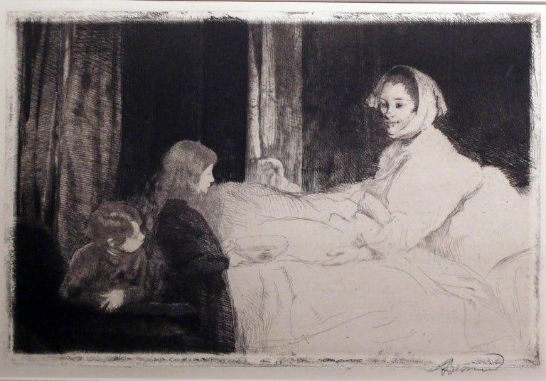 Albert Besnard Figurative Print - LA MERE MALADE