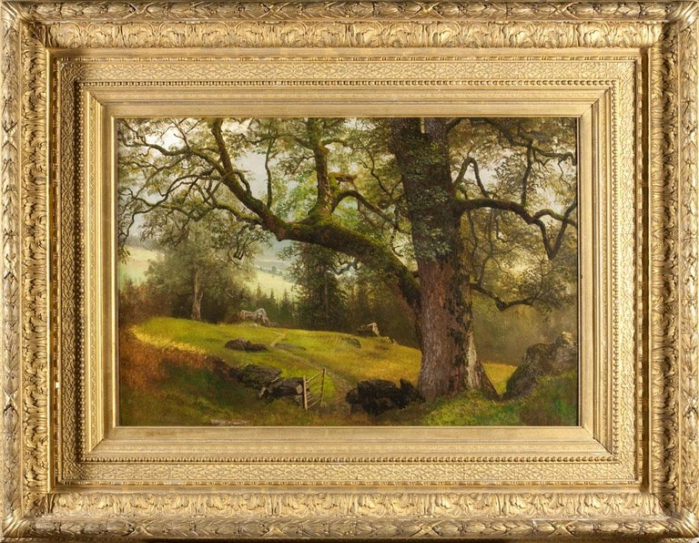 A Trail through the Trees - Painting by Albert Bierstadt