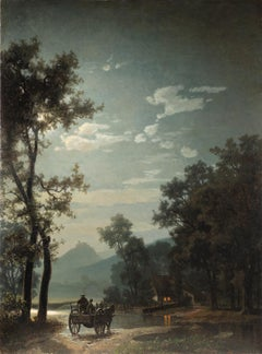 Landscape with Cart and Moonlit Landscape with Cart