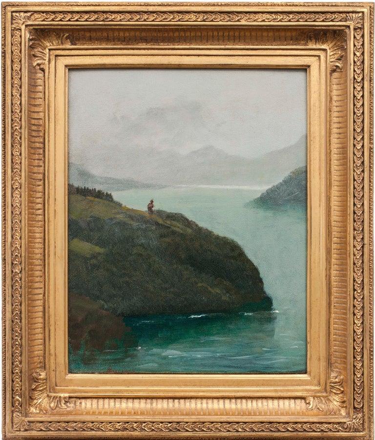 Western Scenery, 19th-century landscape by Albert Bierstadt (1830-1902,American) For Sale 1